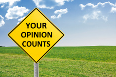 Stock-photo-55311778-your-opinion-counts-road-sign